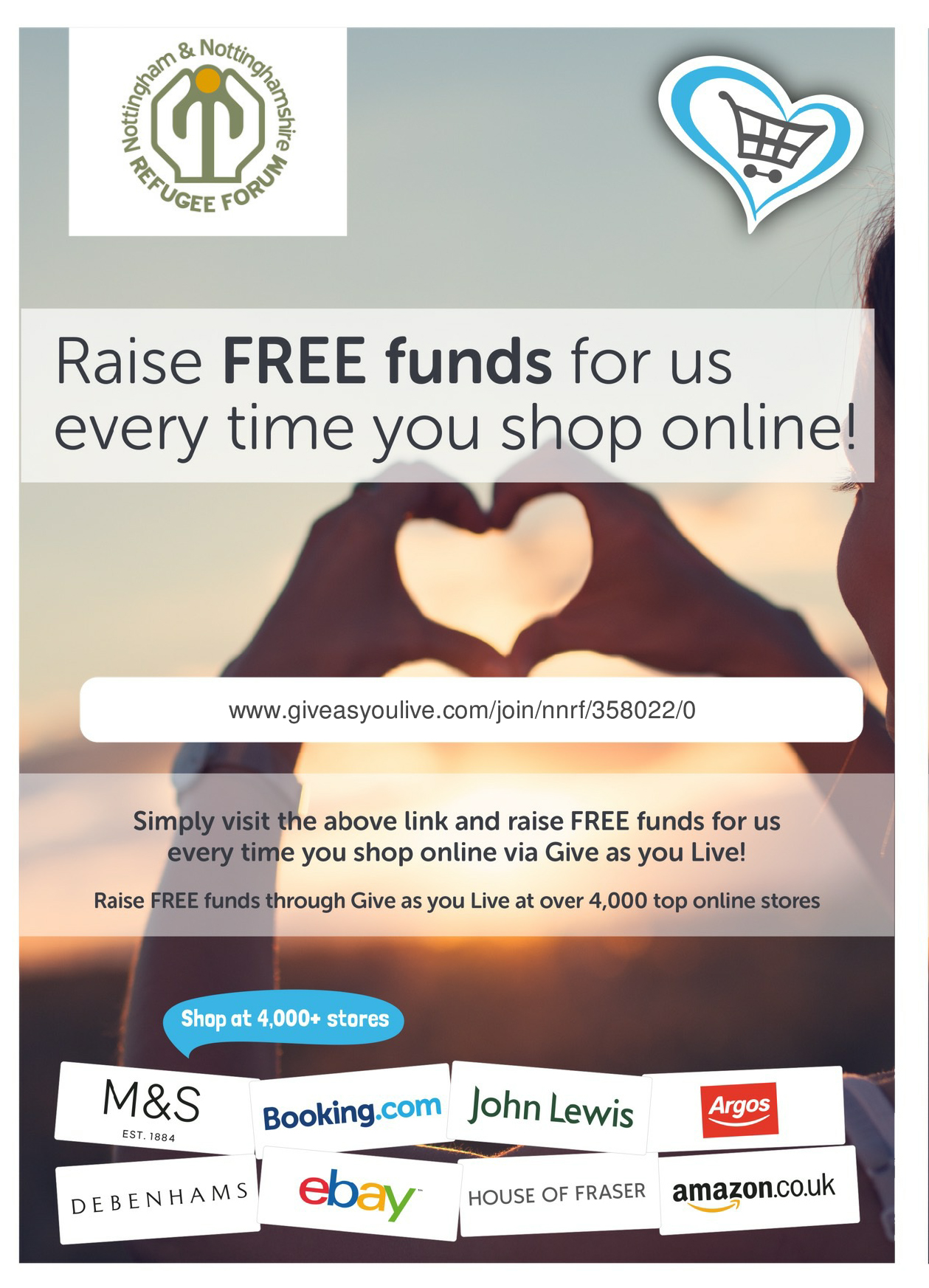 Find out how you can 'Give as You Live'